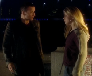 """Lots of planets have a North."" Christopher Eccleston and Billie Piper in ""Rose"""