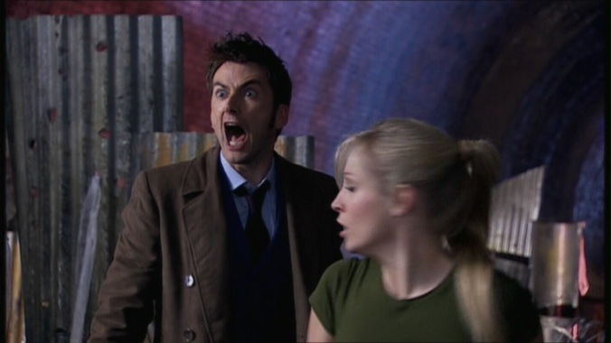 The Tenth Doctor grandstands like crazy in The Doctor's Daughter